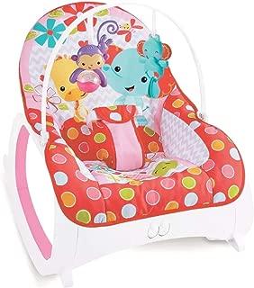 Cadeira de Descanso Musical Vibratória e Balanço Safari Color Baby Rosa