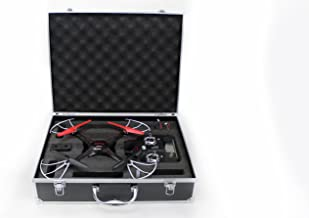 Syma X5C Quadcopter Drone Bundle with Carrying Case and Extra Batteries (Black)