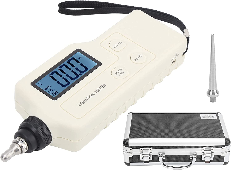 Medidor de vibración digital portátil de mano Probador Vibrómetro Detector de fallas de cojinetes mecánicos para fabricación de maquinaria