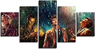 Artwcm Doctor Who,Movie Characters 5PCS Oil Paintings Modern Canvas Prints Artwork Printed on Canvas Wall Art for Home Office Decorations-264 (Unframed)