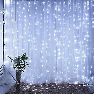 IMAGE 3 m x 3 m 300 diod LED solarna lampa opadająca sople do dekoracji na zewnątrz solarna zasłona LED, 8 trybów łańcuch ...