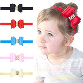 ROEWELL® Baby Girl Turban Headbands Infant Flower Headbands Newborn Hair Accessories