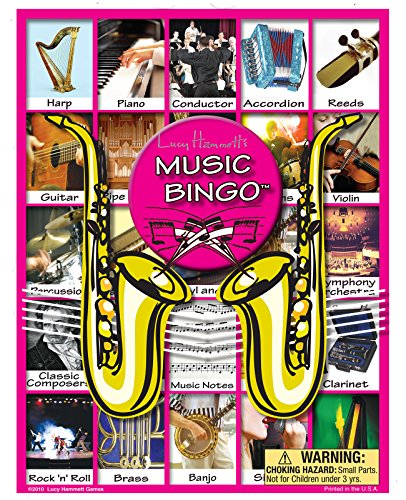 Music Bingo Game by Lucy Hammett Games
