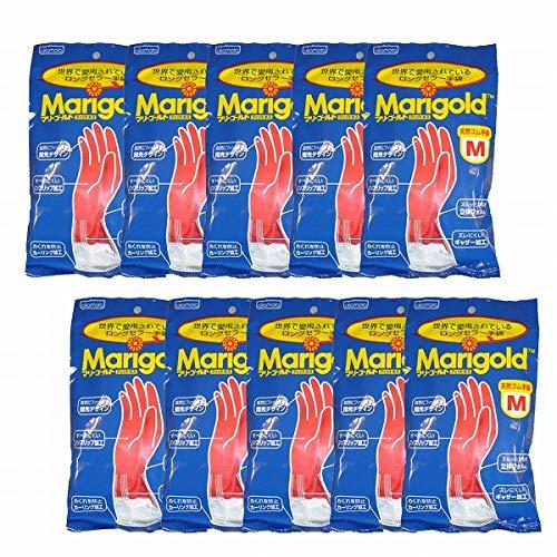 マリーゴールド ゴム手袋 キッチングローブ 【10個セット】 Mサイズ
