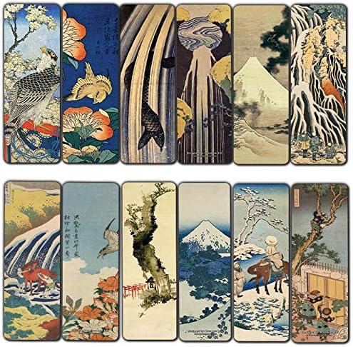 Creanoso Katsushika Hokusai gift Sacramento Mall Bookmarks Wood Landscape - 30-Pack