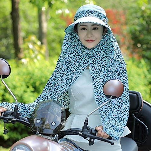 Yarmy hoeden voor dames Vrouwelijke zonnebrandcrème cover gezicht UV groot langs vizier outdoor paardrijden cap Eenvoudig te vouwen en outdoor reizen essentieel