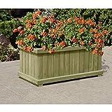 Gartenpirat Pflanzkasten Blumenkasten mit Rahmen aus Holz rechteckig 80 x