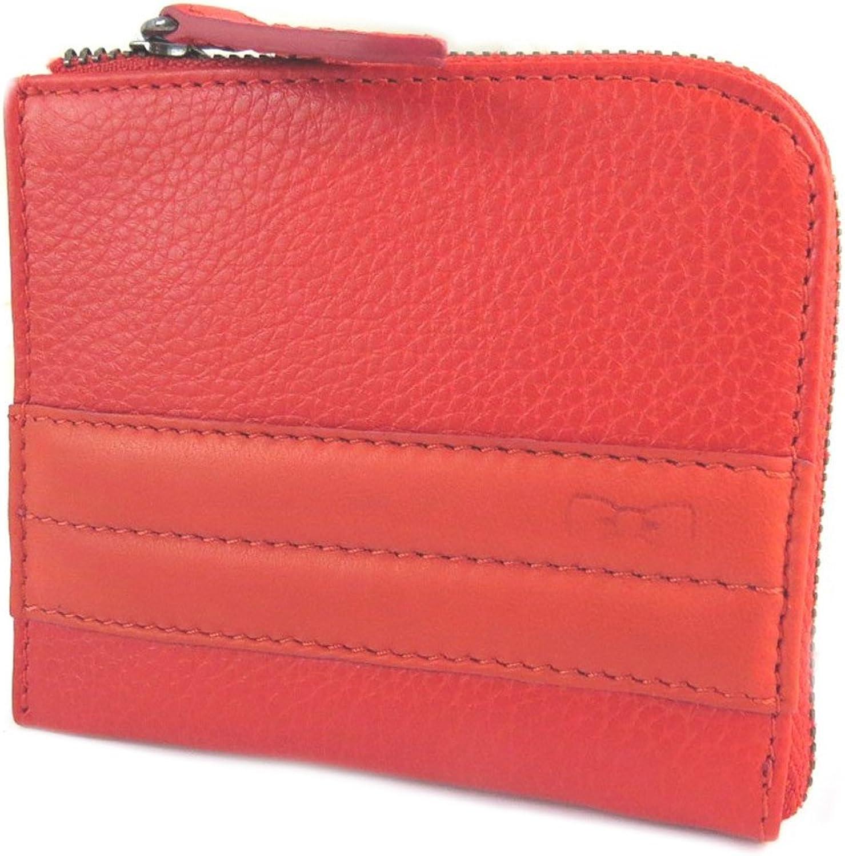 Eden Park [N9774] - Wallet leder reißverschluss 'Eden Park' rot - 11x9x1.2 cm. B01N9JZL4F