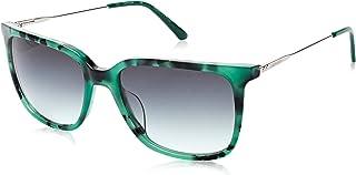 نظارة شمسية للنساء من كالفن كلاين، لون ازرق، 55 ملم CK19702S