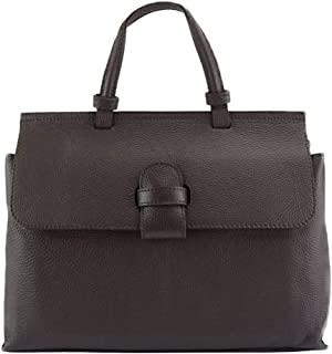 FLORENCE LEATHER MARKET Donatella GM Italian calf-skin Handbag with removable and adjustable shoulder strap- 8061