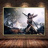 Grab Ölgemälde Poster Dekoration Malerei auf Leinwand