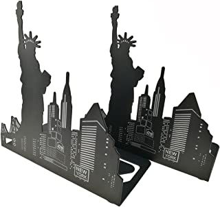 Unigift Black Metal Art World Landmark Bookend Decorative Book Holders for Library School Home Study (Statue of Liberty)