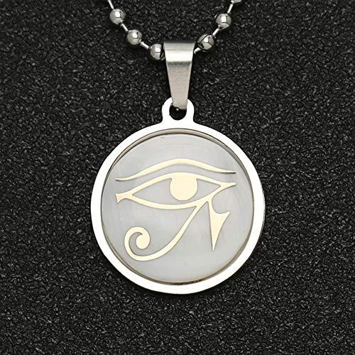 VAWAA Ojo de Horus Collar Wedjat Ojo Amuleto de la religión egipcia A