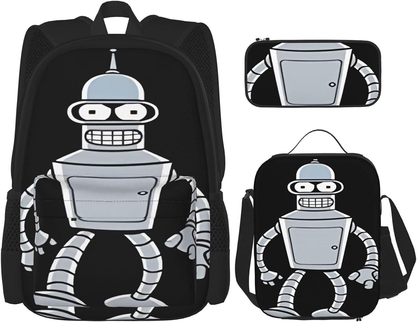 Dfhrtgre Futurama Bender Bending Rodriguezbackpack 3-Piece Albuquerque Mall T Set Soldering