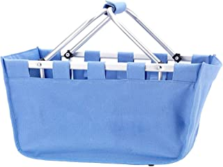 Wholesale Boutique Blue Hydrangea Market Tote, with Durable Removable Aluminum Frame, One Size