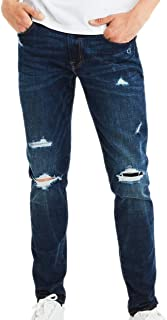 American Eagle Mens 4306958 Ne(x) t Level Slim Jean, Destroyed Dark Wash
