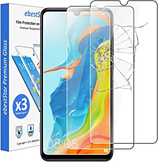 ebestStar   kompatibel mit Huawei P30 Lite Panzerglas [x3 Pack] (2019) Schutzfolie Glas, Schutzglas Displayschutz, Displayschutzfolie 9H gehärtes Glas [P30 Lite: 152.9 x 72.7 x 7.4mm, 6.15'']
