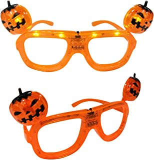 Mammoth Sales 🎃LED Light Up Flashing Halloween Party Glasses - Various Styles (Pumpkin Heads)