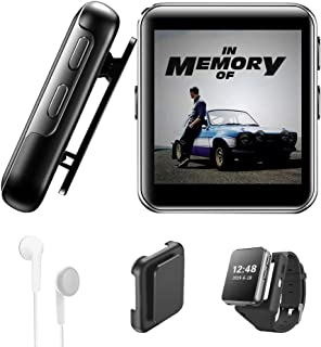 16GB Clip MP3 Player with Bluetooth, Sports Watch MP3 Player with Touch Screen, Mini MP3 Player with Headphones,Voice Reco...