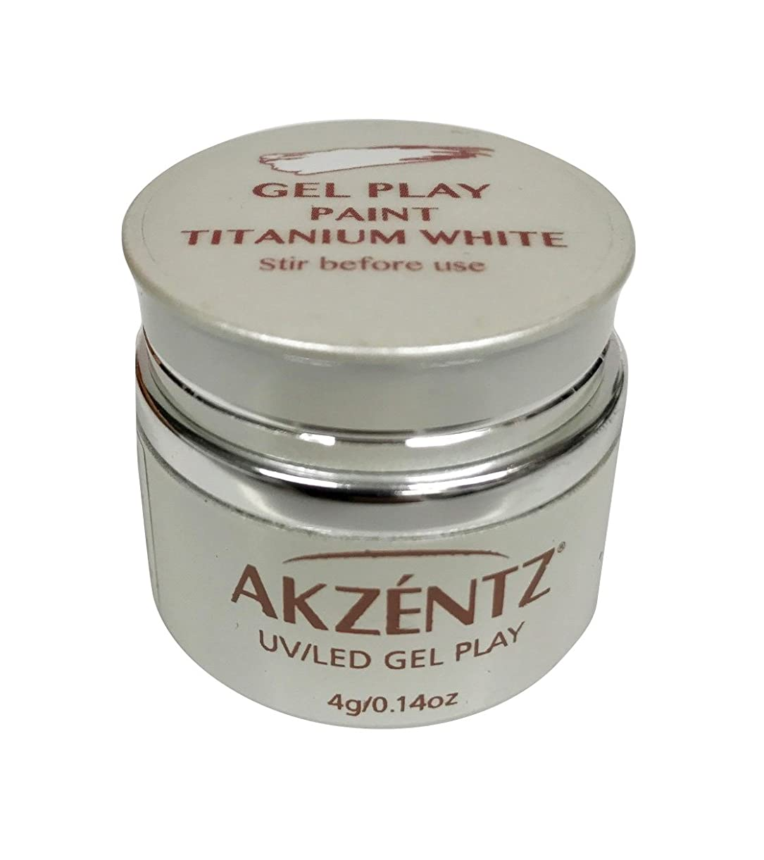 有毒なに応じて保全AKZENTZ(アクセンツ) UV/LED ジェルプレイ ペイントチタニウムホワイト 4g
