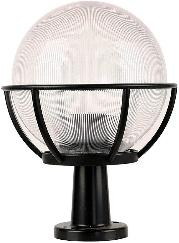 Einfache Moderne Sphrische Spalte Scheinwerfer Villa Wandleuchte Wasserdichte Auenwand Sulenleuchte Druckguss Aluminium Ball Tür Spalte Licht (Gre   30  30  45cm)
