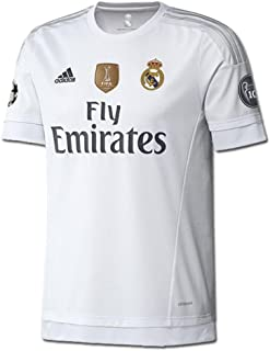 adidas Youth Real Madrid 15/16 Champions Home White/Clear Grey/Onix Jersey