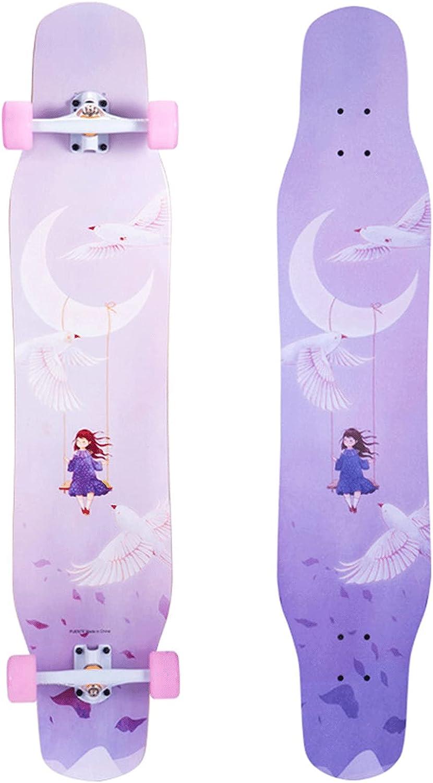 EEGUAI Longboard Now free shipping Skateboard 46 inch Maple Complete 8 Layer Longb Cheap bargain