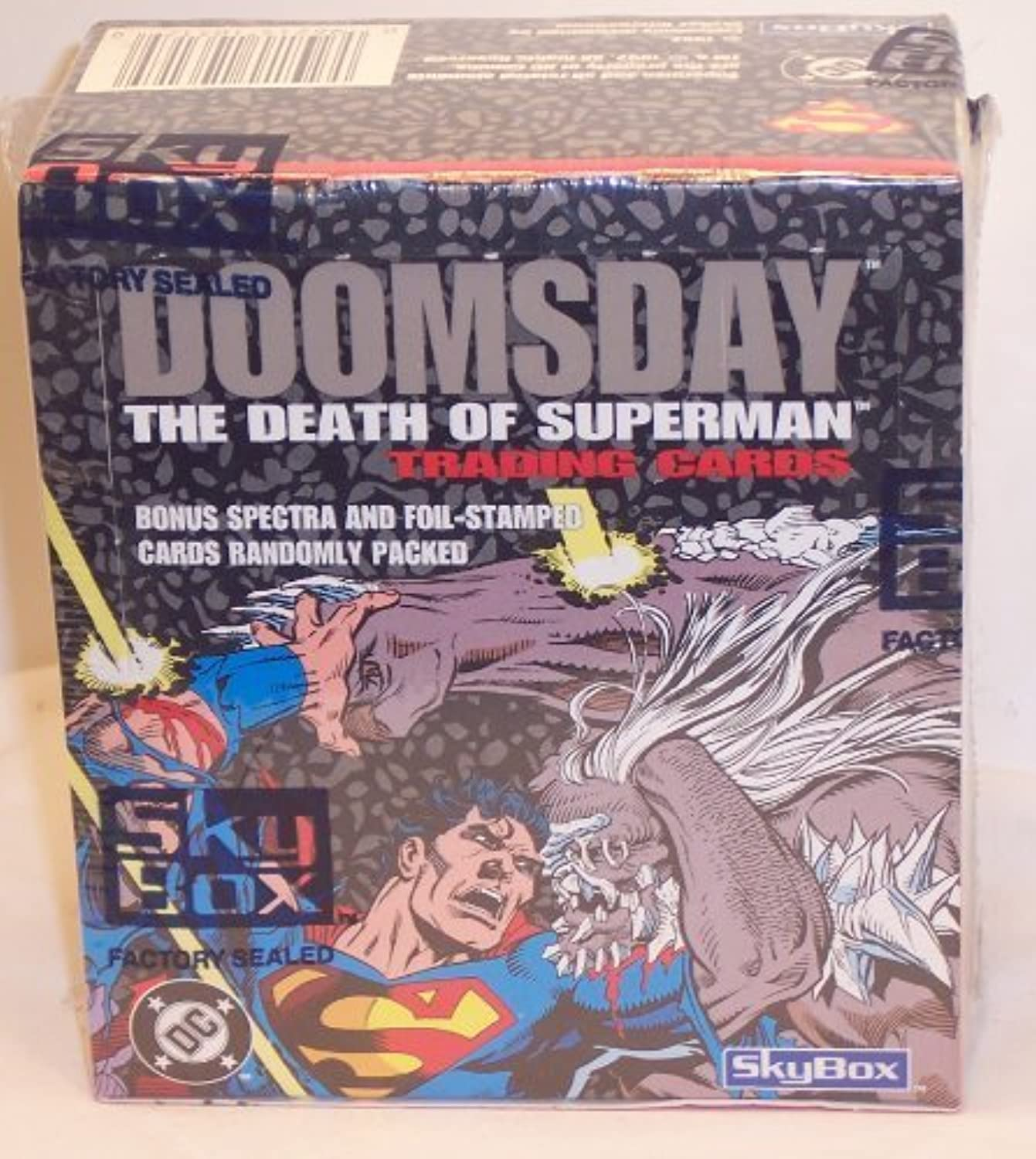 Doomsday  The Death of Superman Trading Cards Box