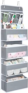 Univivi Door Hanging Organizer Nursery Closet Cabinet Baby Storage with 4 Large Pockets and 3 Small PVC Pockets for Cosmet...