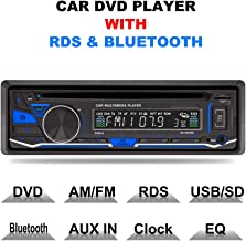 LSLYA(TM) 1 DIN 12V Car Stereo DVD/CD/Bluetooth Player Radio MP3/USB/SD/TF/AUX/FM/AM/RDS Support with Remote