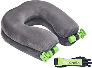 FaceCradle Latest Model, 5 Modes Plus, Multi Function, Better Neck Support,Sleep Forward for Travel on Plane, car, Bus, Train or for nap on Any Table