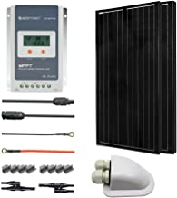 ACOPOWER 200 Watts 12/24 Volts Monocrystalline Panel Solar RV Kits with 20A MPPT LCD Charge Controller/Mounting Brackets / MC4 Connectors/Solar Cables/Cable Entry housing