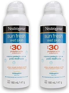Kit com 2 Protetores Solar Wet Skin NEUTROGENA Sun Fresh FPS 30 180ml
