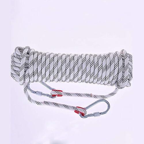 SCJ Corde d'escalade, Corde Blanche pour diamètre 10 mm   12 mm   15 mm, 10 m, 15 m, 20 m, 30 m, Corde de Sauvetage en Plein air Explore Escape, Corde de sécurité en Nylon de Haute résistance (c