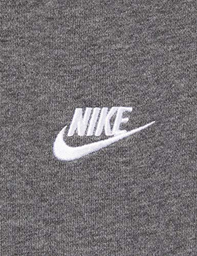 Nike M NSW Club Pant Oh ft Sport Trousers - Charcoal Heathr/Anthracite/(White), Small