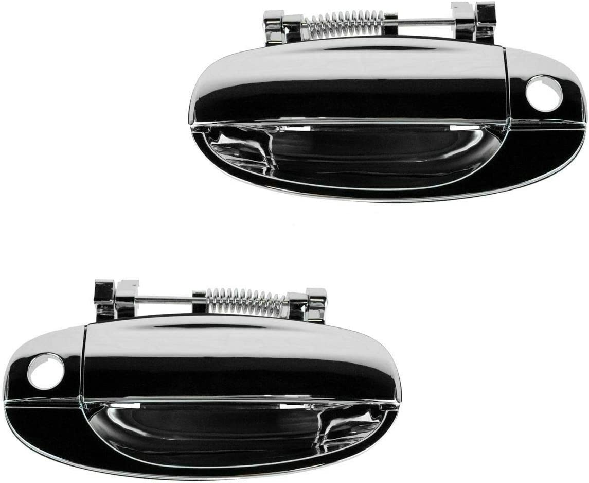 Door Handles Exterior Same day shipping Chrome Front Set Left Pair Compati Large-scale sale Right
