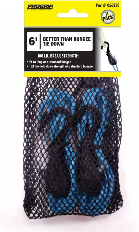 Pack of 3 6 Tan Paracord PROGRIP 056390 Better Than Bungee Rope Lock Tie Down with Snap Hooks