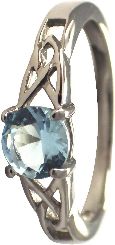 Ð¡harm Max 70% OFF - March Surprise price Celtic Birthstone Zirc Aquamarine Ring Cubic Blue