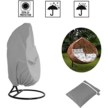 SOOTOP Egg Chair Cover Waterproof Swing Egg Chair Covers Patio Hanging Chair Covers with Zipper Anti-uv for Outdoor Chair Covers