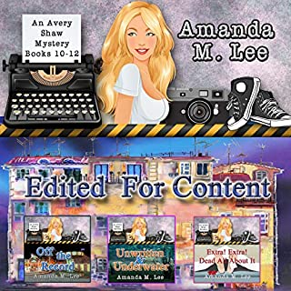 Edited for Content     An Avery Shaw Mystery, Books 10-12              By:                                                                                                                                 Amanda M. Lee                               Narrated by:                                                                                                                                 Angel Clark                      Length: 31 hrs and 24 mins     2 ratings     Overall 5.0