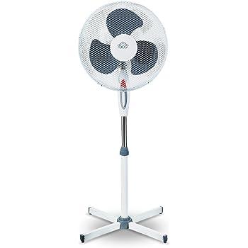 Euronovit/à Srl Ventilatore da casa a piantana Alto cm.140 Regolabile in Altezza con 3 velocit/à e Oscillazione Orizzontale