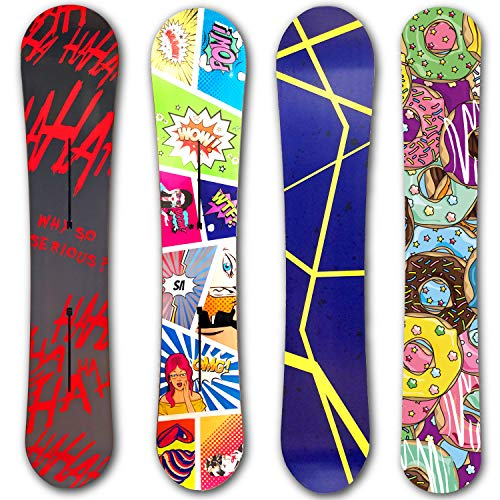 PrintAttack R003 V11 Snowboard Skin Wrap Folie Aufkleber 165cm x 35 cm   Folierung   Sticker   Cover   Board   Styling   Design Your Board (Black Hahaha)