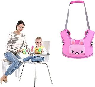 WYT Toddler Safety Walking Reins Harness Belt Adjustable Strap Walk Assistant,Pink Rabbit