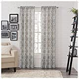 PAIRS TO GO Brockwell 2-Pack Window Curtains, 56' x 84', Charcoal, 2 Piece