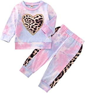 Toddler Baby Girl Pant Sets Ruffle Long Sleeve Blouse + Sunflower Floral Flared Trousers Fall Winter Clothes 1-5T 2PCS