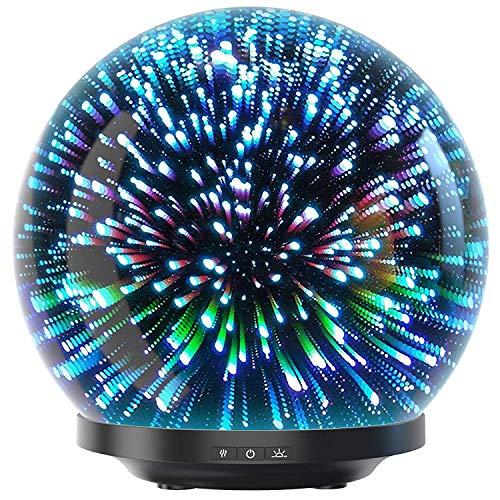 Likemylux Diffuseur aromatique 200 ml, humidificateur à huiles essentielles LED avec 7 couleurs, pour yoga, spa, salon, chambre, salle de bain, chambre d'enfant, hôtel