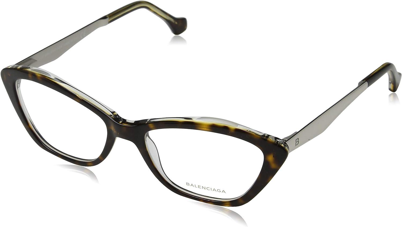 Balenciaga  BA5040, Cat Eye, acetate metal, women, HAVANA PALLADIUM(053 B), 53 17 140