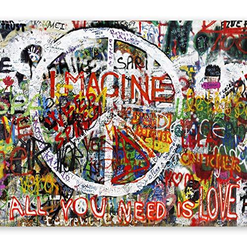 murando Fototapete 350x256 cm Vlies Tapeten Wandtapete XXL Moderne Wanddeko Design Wand Dekoration Wohnzimmer Schlafzimmer Büro Flur Graffiti bunt f-B-0041-a-b