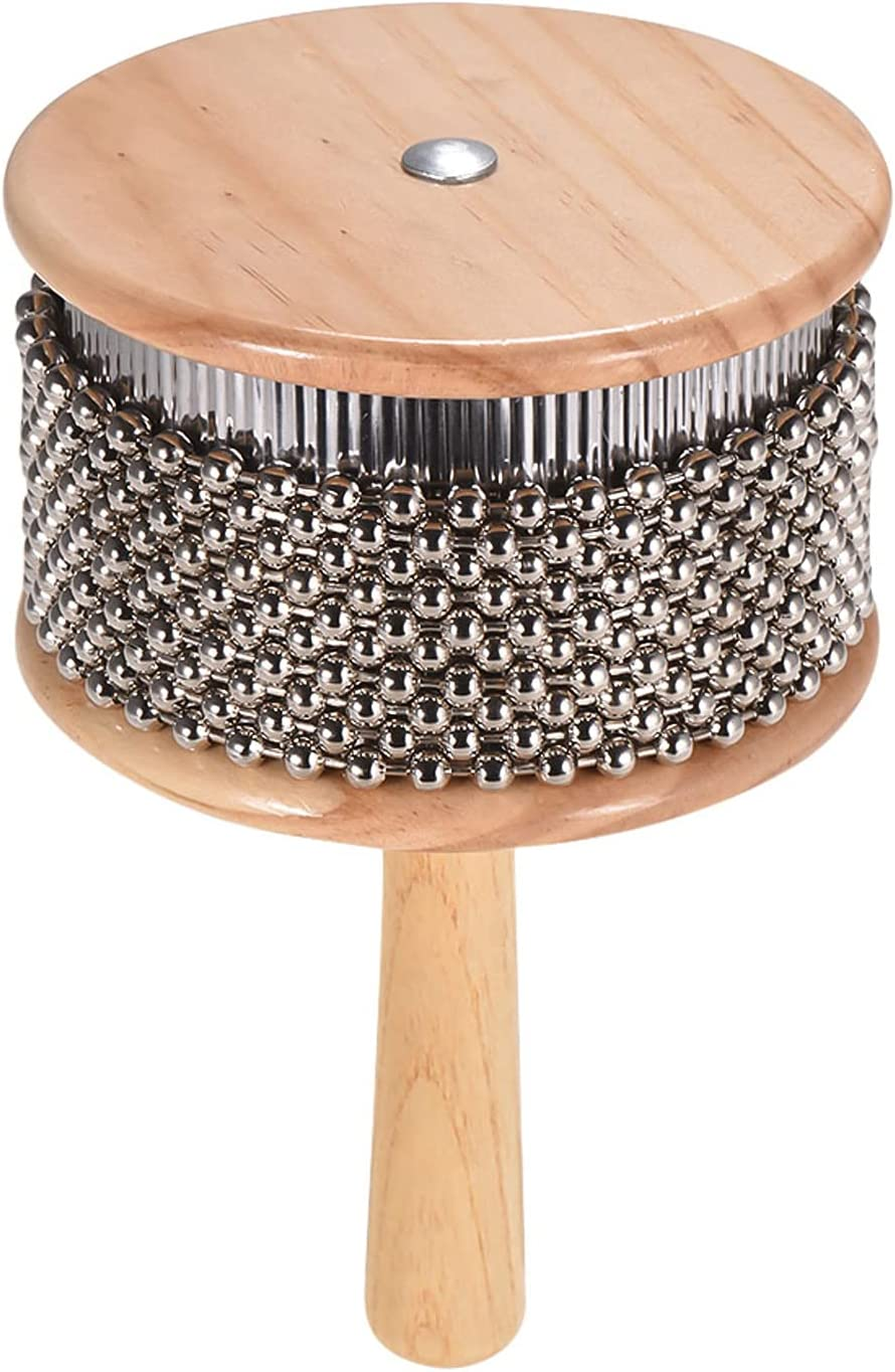 Wooden Cabasa Percussion Musical Chain Beaded Now free shipping trust Metal Instrument