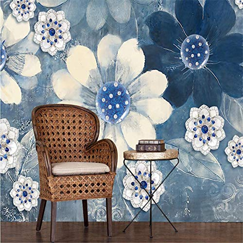 Muurbehang muur Muralscustom Wallpaper Home Meubels Fresco Retro Pastorale Mooie Bloemenbank Tv Woonkamer Achtergrond 3D Behang 400 * 280cm